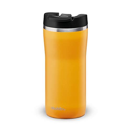 Aladdin Barista Mocca Thermavac Leak-Lock Edelstahl Thermobecher 0.35L Sun Yellow – Auslaufsicherer Becher - Kaffeebecher To Go Thermo - Hält 3 Stunden Heiß - BPA-Frei - Spülmaschinenfest