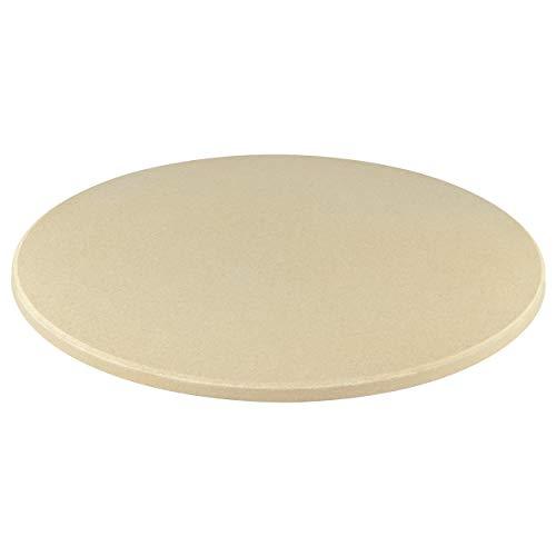 Jamestown Pizzastein inkl. Blech | Grillzubehör aus Naturstein mit 28 cm Durchmesser
