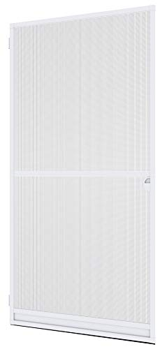 Windhager Insektenschutz Spannrahmen-Tür Expert ,Fliegengitter Alurahmen für Türen, individuell kürzbar, 120 x 240 cm, weiß, 04332