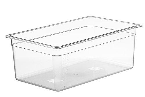 LIPAVI C20 Sous Vide Wasserbad -25 Liter. Starkes, durchsichtiges Polycarbonat. 53x33xH:20 cm. Passende Deckel* undt LIPAVI Gestell* *Separat verkauft.