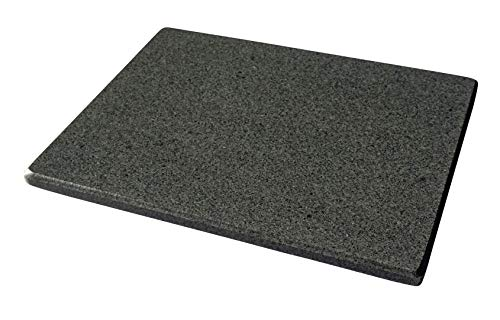 Universal Pizzastein - natürlicher Back-Grillstein aus poliertem Granit, dadurch sehr leicht zu reinigen, L 38x30x2cm