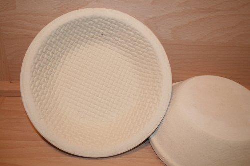 Gärkorb Brotform Holzschliff für 1,00 kg Brote mit Bodenmuster Waffel incl. Profirezepte