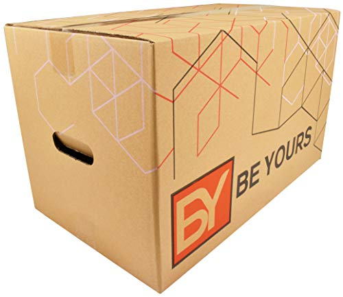 BeYours Umzugskartons mit Griffen 10 Stück, 2-WELLIG - 500 x 300 x 300 mm - Hochwertige Kartons