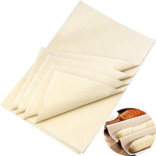 Premium Bäckerleinen 36x45cm - Teigtuch aus 100% unbehandelten Natur Leinen - Leinentuch zum Backen - Backleinen, Teigtuch, Strudeltuch