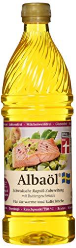 ALBAÖL - schwedische Rapsöl-Zubereitung mit Buttergeschmack 750ml (1 x 750ml Flasche)