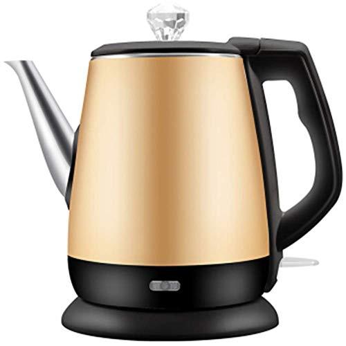 1,2 l rostfreier Innendeckel-Wasserkocher 1360 W kabelloser Teekessel, schnell kochender Heißwasserkessel mit automatischer Abschaltung mit Trockenschutz zum Kochen, doppelwandige Isolierung, Gold