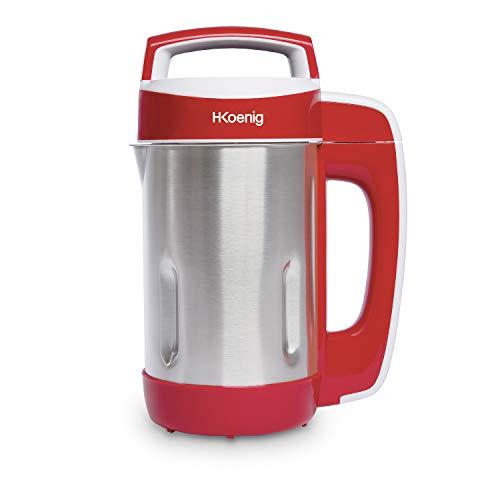 H.Koenig MXC18 Suppenzubereiter / Soup maker / 1,1 L Fassungsvermögen / Isotherm Behälter / 4 Programme / Temperatur bis 100°C / / 850 W / rot