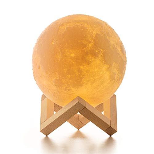 15cm Mond Lampe, ICONNTECHS IT 3D-gedruckte Helligkeit Dimmbar Mondlicht 16 RGB Farben USB Wiederaufladbare Fernbedienung & Touch-Steuerung Nachttischlampe Damengeschenk Nachtlicht für Kinderzimmer
