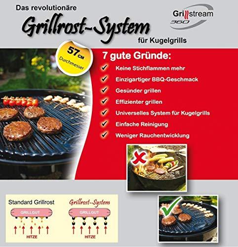 Grillrost System Grillrost emailliert mit Fettablauf 57cm