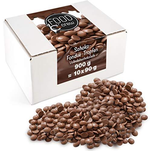 Sweet Wishes 900g Belgische Fondue-Schokolade Vollmilch-Drops - zart schmelzender Hochgenuss feine...