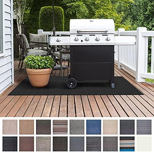Floordirekt Grillschutzmatte   Schwer entflammbar   2 Größen   5 Designs   Grillmatten zum Grillen im Garten   Outdoor Matten für den Grill (90 x 120 cm, Padua)
