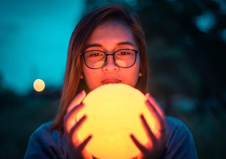 Mondlampe mit Bild