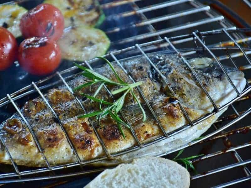 Fisch Grillzange
